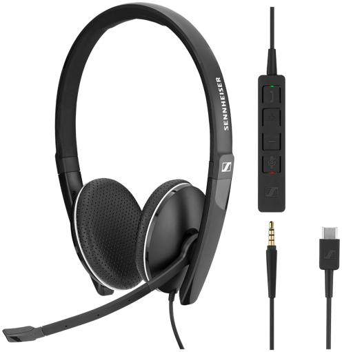 Sennheiser SC 165 USB-C mit abnehmbarer In-Line Call Control