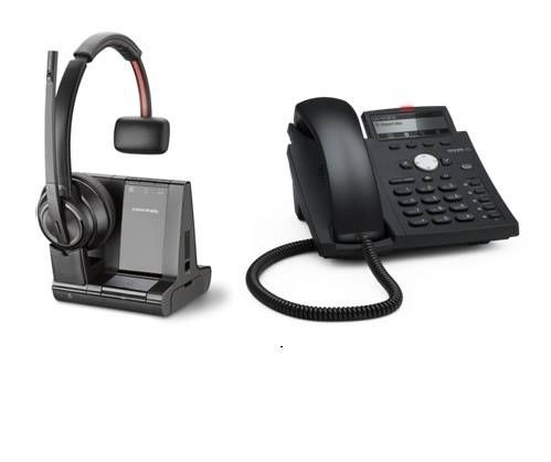 Snom D305 SIP Telefon für Fritzbox inkl. schnurlosem Headset Plantronics Savi 8210