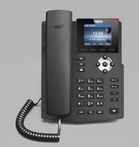 Fanvil X3S Desktop SIP Telefon schwarz inkl. Netzteil