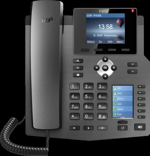 Fanvil X4 Desktop SIP Telefon schwarz