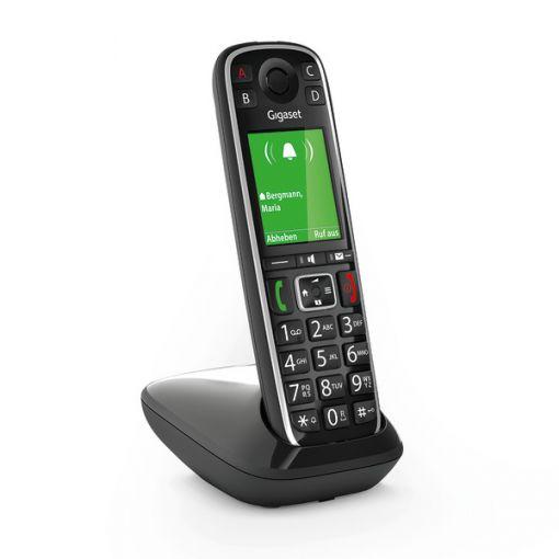 Gigaset E720 schwarz, schnurloses Dect Telefon