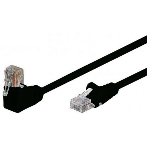 shiverpeaks Patchkabel S/FTP Cat.6 PIMF Winkel schwarz 3,0m