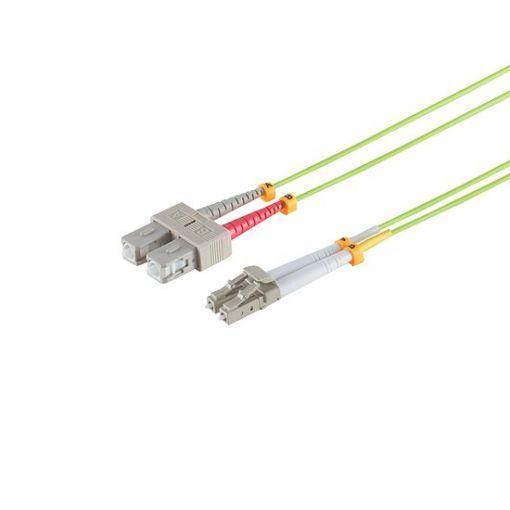 Professional LWL Kabel OM5 LC/SC Multimode LSOH limettengrün / lindgrün 15m