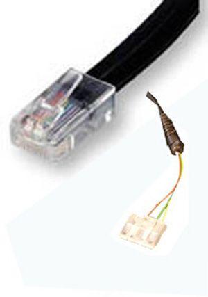 Telefonkabel WE-AS, 6-polig/4-adrig, 3m