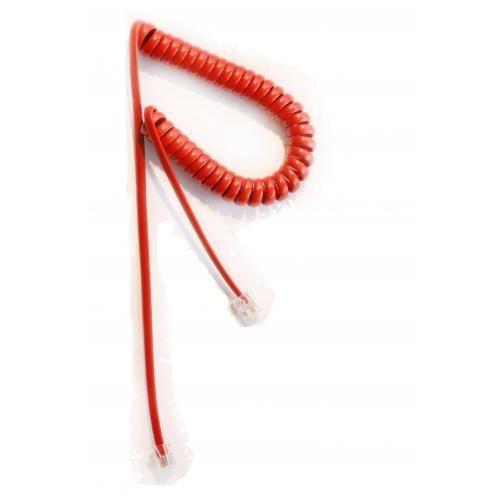 Hörerkabel 4-polig, 4-adrig, 1,9m mit extra lange Enden, rot