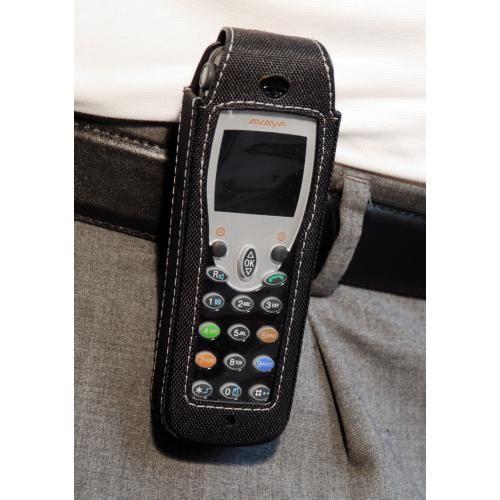 CasYy Nylontasche für Avaya DECT IH4 / FC4 / D4 mit Rotationsclip, schwarz