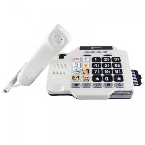 Geemarc PhotoPhone 100 weiß Senioren-Telefon_hoergeraete kompatibel