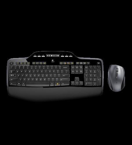 Logitech Desktop MK710, Tastatur, Maus und kabelloser Empfänger 2,4 GHz (USB)