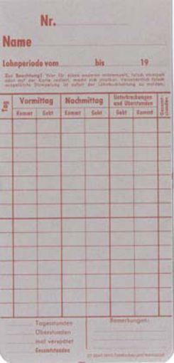 Zeitregistrierkarten 4 Wochen 5810
