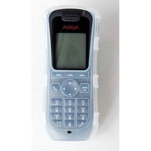 CasYy Silikonschutztasche für Avaya 3720 mit Clip, transparent