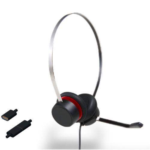 Avaya L149 Headset Binaural, Schnurgebunden für alle Avaya 16xx, 96xx, J100 Serie, Vantage Serie und H175