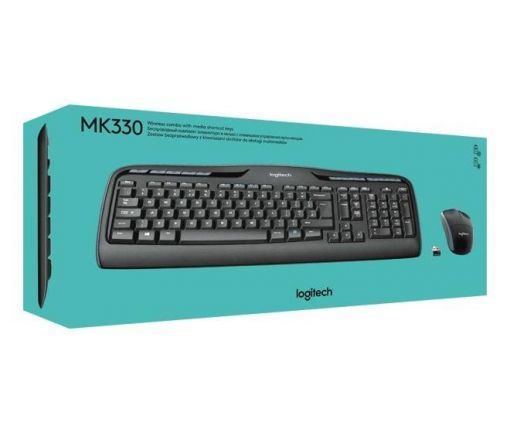 Logitech Tastatur/Maus MK330, Wireless, Unifying, Optisch