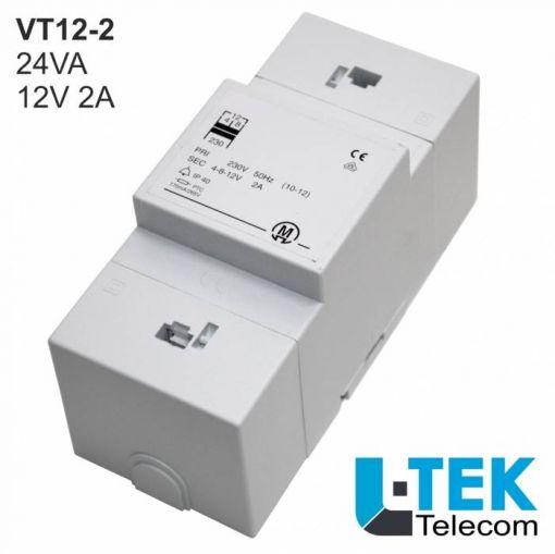 L-TEK Klingeltrafo VT12-2 Leistung 24VA