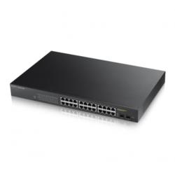 ZyXEL - GS1900-24HP, 24-port GbE L2 PoE Smart Switch