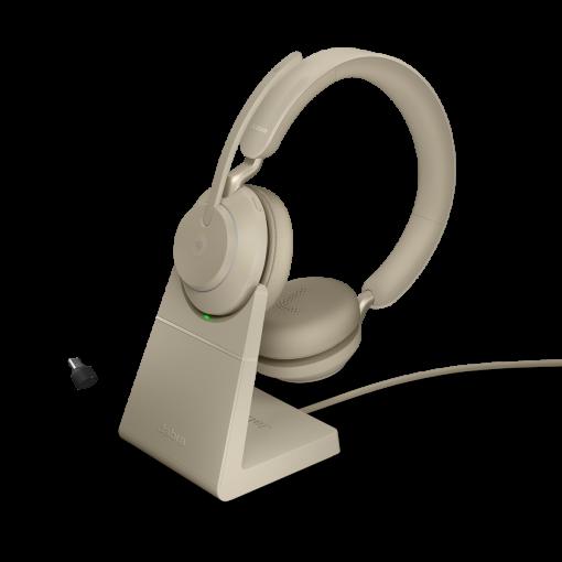 JABRA Evolve2 65 Stereo MS USB-C Bluetooth Headset in Beige