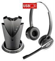 freeVoice Fox FX840UCB DECT - binaurales schnurloses Dect Headset - USB-A