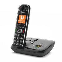 Gigaset E720A schwarz, schnurloses Dect Telefon mit Anrufbeantworter