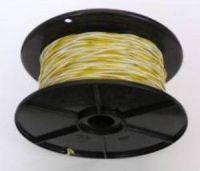 Schaltdraht / Rangierdraht YV 2 x 0,6 weiß/gelb
