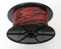 Schaltdraht / Rangierdraht YV 2 x 0,6 rot/schwarz
