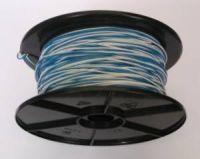 Schaltdraht / Rangierdraht YV 2 x 0,6 weiß/blau