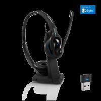 EPOS Sennheiser IMPACT  MB Pro 2 UC ML - Beidseitiges Mobile Bluetooth Business Headset mit Ladeständer und Bluetooth-Dongle für UC mit Microsoft Lync