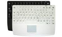 Ateg AK-C4400 desinfizierbare Touchpad-Tastatur, kabelgebunden, IP68, CleanFunktion-Taste, schwarz