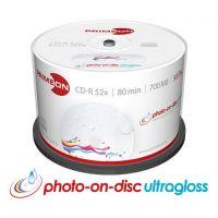 PRIMEON CD-R 80Min/700MB/52x Cakebox (50 Disc), bedruckbar, ultragloss