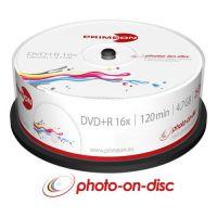 PRIMEON DVD+R 4.7GB/120Min/16x Cakebox (25 Disc), bedruckbar
