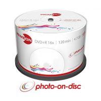 PRIMEON DVD+R 4.7GB/120Min/16x Cakebox (50 Disc), bedruckbar