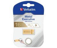 VERBATIM USB 3.0 Stick 16GB, Metal Executive, Gold