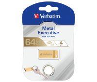 VERBATIM USB 3.0 Stick 64GB, Metal Executive, Gold