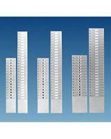 Kartenkasten aus Metall für Kartenmaß 82 - 92 x 185 mm, 15 Kartenfächer