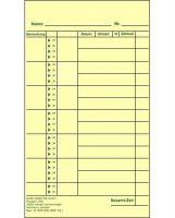 Stempelkarte / Wochen-Lohnkarte (Nr.1)