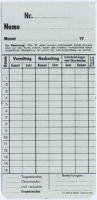 Zeitregistrierkarten Monatskarte 5820