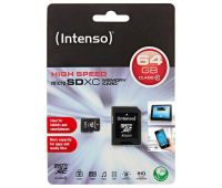 INTENSO micro SDXC Card 64 GB Class 10 + Adapter
