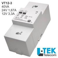 L-TEK Klingeltrafo VT12-2 Leistung 40VA