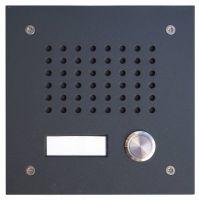 L-TEK Türstation KLASSIK 1 anthrazit - 1x Klingeltaster ideal für Fritzbox