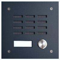 L-TEK Türstation TECHNIK 1 anthrazit - 1x Klingeltaster für Firtzbox, Telekom Speedport