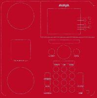 """SKINforPhone Folie """"Rot"""" für Avaya Telefone"""