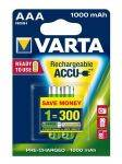 VARTA Rechargeable Akku AAA Micro 2er 1000mAh (Entladeschutz)