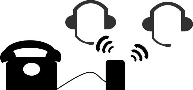 Mithören mit schnurlosem Headset